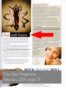 AlignBetween in Day Spa Magazine page 31